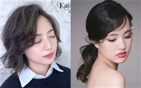 「學姐」黃瀞瑩幫髮廊拍的成果圖。(圖/翻攝自Kairos Hair Salon)/韓冰/IG