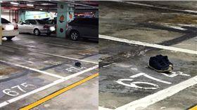 終極佔位法!不怕車位被停走 網笑:沒看到有人站在那嗎?(圖/翻攝爆廢公社)