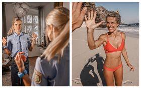 德國,女警,科萊薩爾(Adrienne Koleszar),比基尼,性感照(圖/翻攝自Adrienne Koleszar IG)