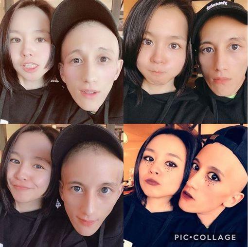 日本女星misono,跟罹癌老公、搖滾樂團「HighsidE」鼓手Nosuke合照。IG