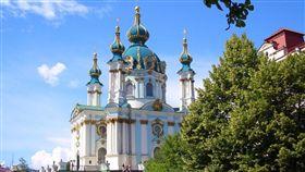 烏克蘭基輔聖安德魯斯教堂(圖/pixabay)