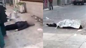 婦人遭冰塊從天而降襲擊,當場頭破血流身亡。(圖/翻攝微博)