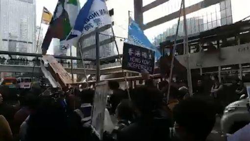香港,元旦大遊行,台獨,統獨,習近平(圖/翻攝自Kc Kwan臉書)