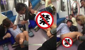 日本,電車,脫褲子,下體,裸露(圖/翻攝自推特)