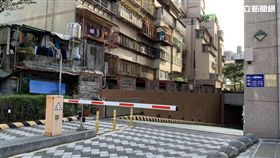 台北市大同分局停車場出入口(楊忠翰攝)