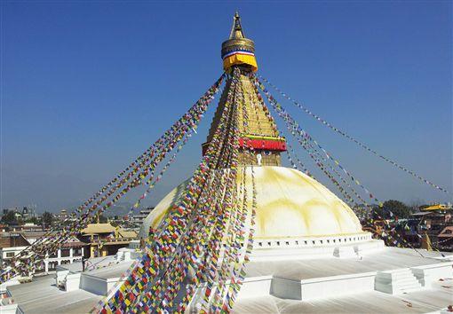 ▲尼泊爾最大的佛塔─博達塔(圖/鳳凰旅遊)