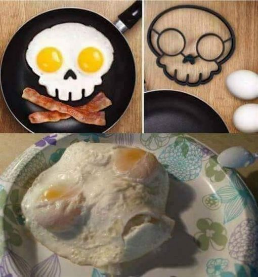 煎蛋像外星人 圖/翻攝自爆笑公社