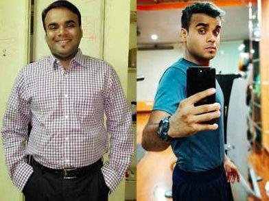 國外一名男子靠著三原則成功瘦身19公斤。(圖/取自indiatimes)