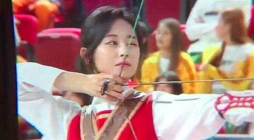 周子瑜,射箭,2019,披風,紅心,