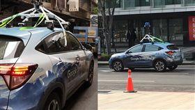 網友在街上巧遇Google街景車。(圖/取自爆廢公社)