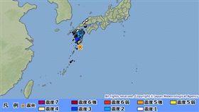 日本,鹿兒島,地震,日本氣象廳 圖/日本氣象廳