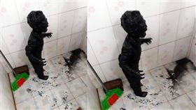 上廁所摔田裡 黑泥男童崩潰照瘋傳 原來他的遭遇很凶險 臉書