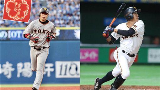 ▲龜井善行(左)、松原聖彌(右)將是陽岱鋼新球季右外野先發的競爭者。(圖/翻攝自推特)
