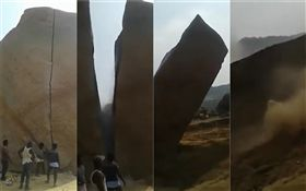 印度,巨石(圖/翻攝自每日郵報)