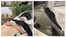 自動洗頭機,微風南山。(圖/記者馮珮汶攝)