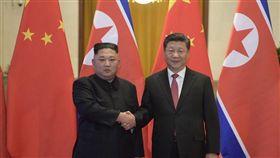 新華社今(10)日報導,北韓領導人金正恩8日在北京會見中國國家主席習近平時提到,去年朝鮮半島形勢出現緩和,「中方發揮重要作用有目共睹」,北韓將繼續堅持無核化立場。(圖/翻攝自中國政府網)