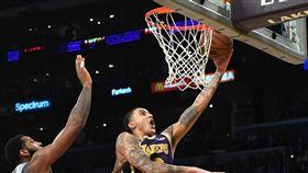NBA/湖人小將3節爆砍40+分! NBA,洛杉磯湖人,Kyle Kuzma,LeBron James 翻攝自推特