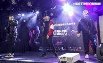 第14屆KKBOX風雲榜搶先發佈會,嘻哈天團頑童MJ116連莊3年搶先領獎。(記者林士傑/攝影)