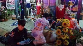 泰國發生正宮不滿丈夫外遇開4槍擊斃小三。(圖/翻攝自微博)