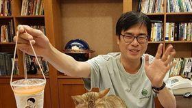 陳其邁、陳小米、貓 合成圖翻攝自陳其邁IG