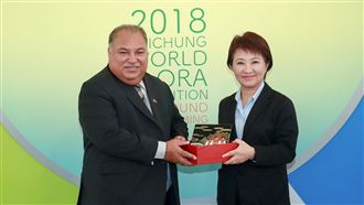 首外元首訪花博 盧秀燕接待諾魯總統
