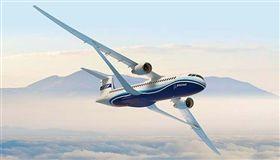 美國最大飛機製造商「波音」推出全新概念機,不同於以往的雙層機翼設計,讓人耳目一新,超薄又輕巧的新機翼可讓飛機飛得更高、更快,可望替未來民航客機市場帶來革命性的改變。(圖/翻攝自@wordlesstech推特)