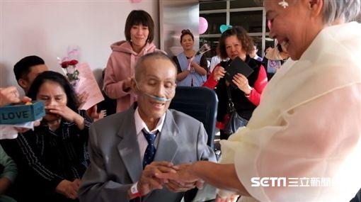 宜蘭癌末男圓夢辦婚禮/羅東博愛醫院提供
