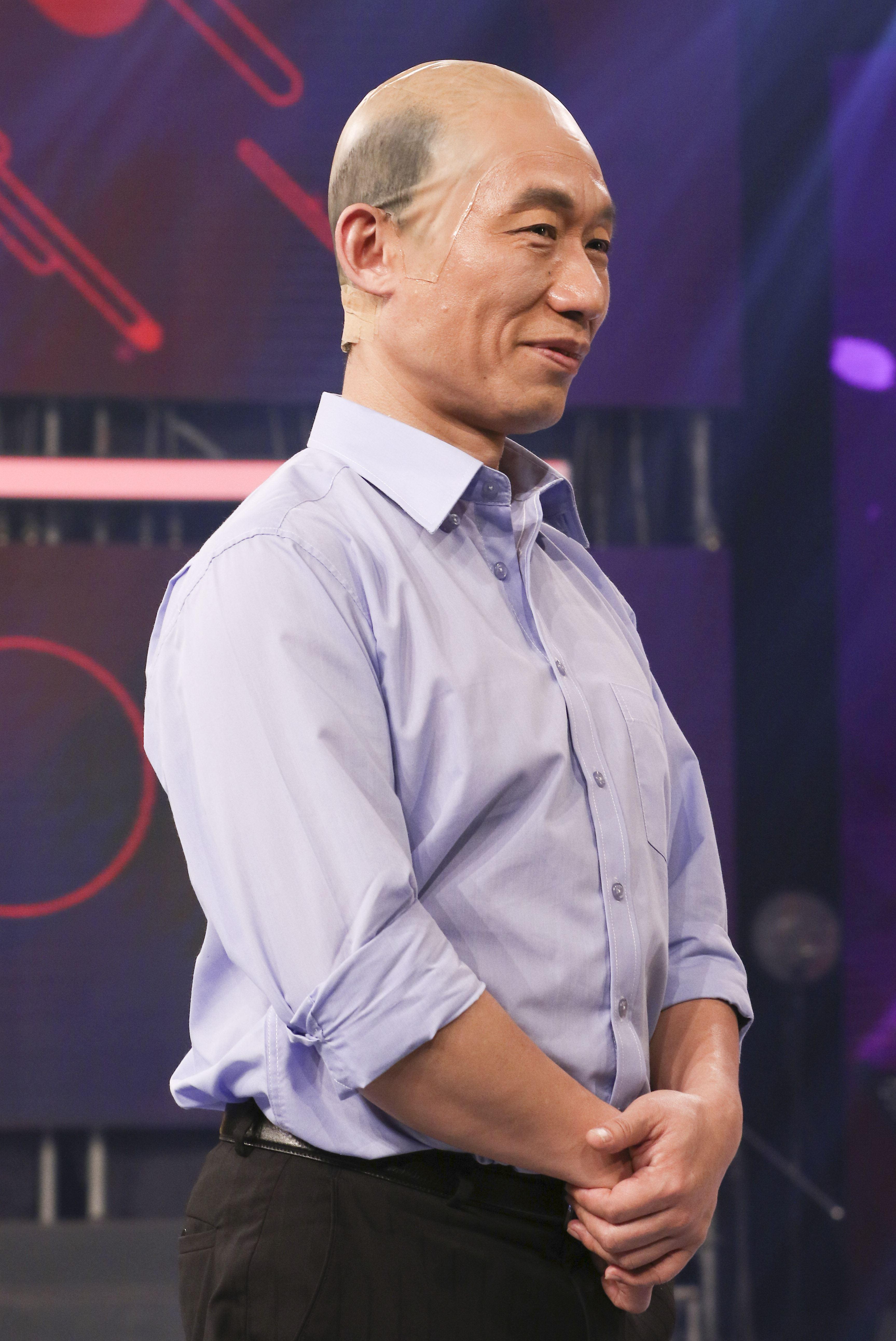 2019超級華人風雲大賞,郭子乾飾演韓國瑜。(記者林士傑/攝影)