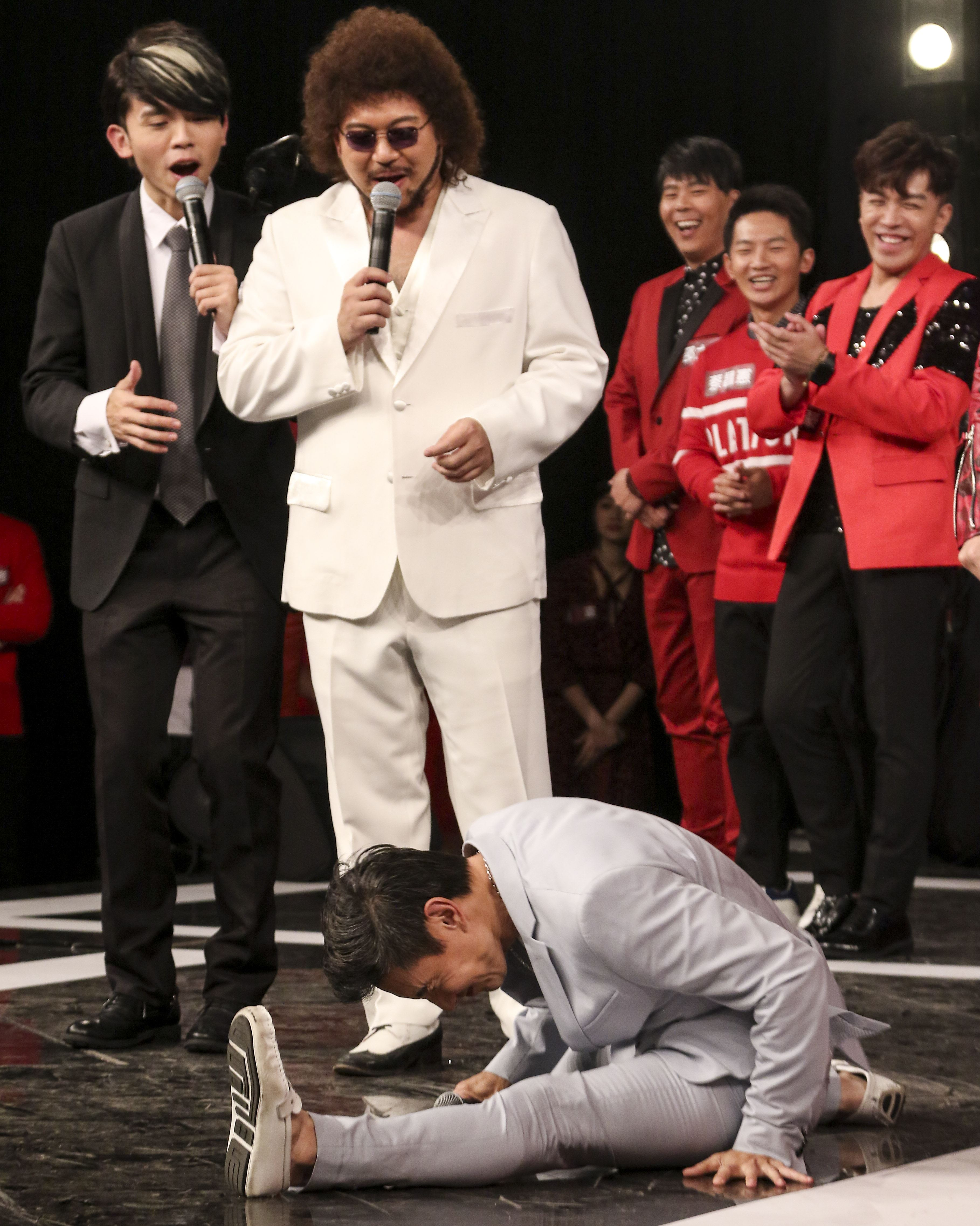 2019超級華人風雲大賞,包偉銘大秀絕技。(記者林士傑/攝影)