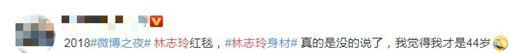 中國大陸「微博之夜」,林志玲,網友回應。(圖/翻攝自微博)