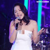 侯湘婷為江美琪演唱會嘉賓。(記者邱榮吉/攝影)