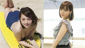 日本寫真偶像界處於頂峰的女星篠崎愛。(圖/翻攝自推特)
