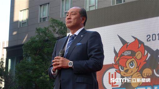 日職埼玉西武獅隊總經理渡邊久信來台參加統一獅開訓。(圖/記者王怡翔攝影)