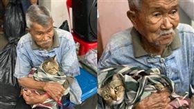 貓,颱風,泰國,撤離,居民,遊客,陪伴,感動,親情,親人 圖/翻攝自推特