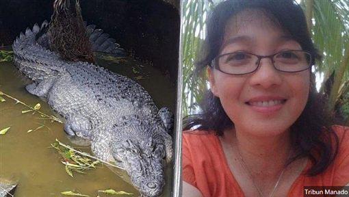 印尼女墜鱷魚池遭啃爛半個身體/翻攝自《KAOTIC》網站
