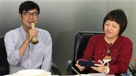 新任副閣揆陳其邁14日上《NOWnews今日新聞》小玉巷仔內節目