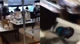 猶他州商場槍擊!2人遭擊中受傷 倖存者錄影「邊哭邊逃」(圖/翻攝自多維視頻集錦DWNEWS YouTube)