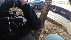 男警執勤抓通緝犯被狗吠聲嚇到,開槍擊中女同事。(圖/翻攝YouTube)