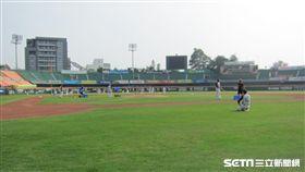 ▲統一獅在台南球場春訓。(圖/記者蕭保祥攝影)
