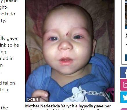 俄羅斯媽媽灌男嬰伏特加致死,竟為了「跑趴不被打擾」。(圖/翻攝自每日郵報)