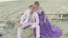 台男虐嬰表姐百日結婚。(圖/翻攝自臉書)