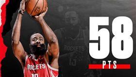 NBA/哈登砍新高58分 火箭輸球 NBA,休士頓火箭,James Harden,布魯克林籃網,Spencer Dinwiddie 翻攝自推特
