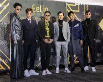 伊林娛樂時尚尾牙派對,男模鄭宇倫、李競、潘胤傑、吳允翰、紀璽安、邱求新。(記者林士傑/攝影)
