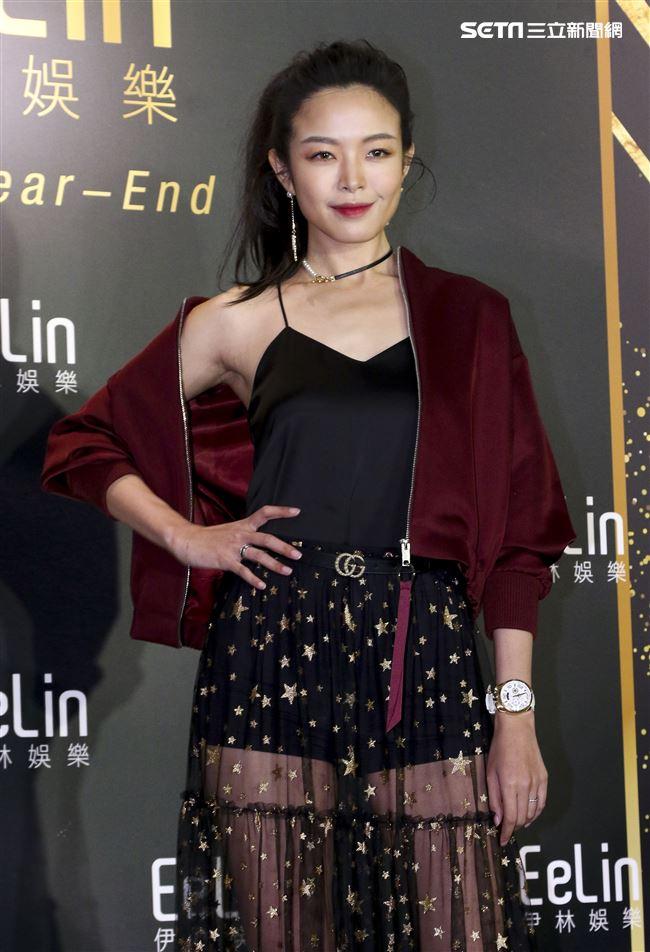 伊林娛樂時尚尾牙派對,女模張安琪。(記者林士傑/攝影)