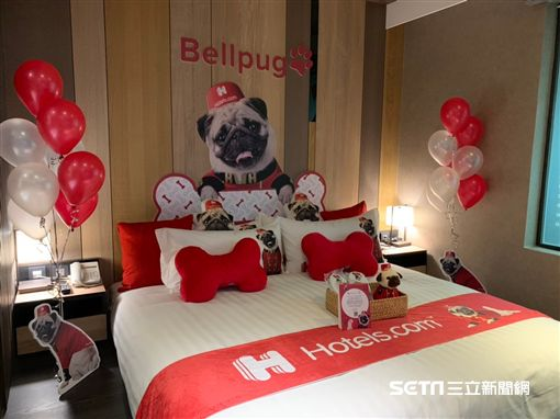 Hotels.com,巴哥主題房。(圖/記者馮珮汶攝)