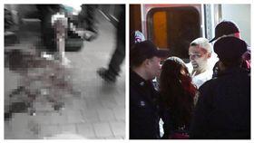 美國紐約俄羅斯裔男子闖入餐廳攻擊中國人。(圖/翻攝自翻攝《紐約每日新聞》)