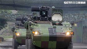 國軍、共軍、陸軍實施反擊再戰整備演練,M60A3主戰車及雲豹甲車立即油彈整補,然後再次投入戰場。(記者邱榮吉/台中拍攝)