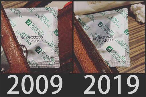 十年挑戰/「這東西」放10年 他淚:比悲傷更悲傷的故事保險套,圖/翻攝自爆廢公社臉書