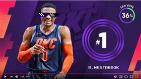 ▲威斯布魯克的低級失誤登上『俠客真烏龍』。(圖/翻攝自NBA on TNT)