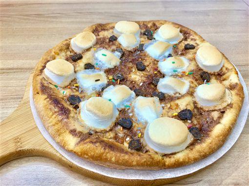 愛披薩,海蘆蝦,大蝦披薩,美食,披薩,海鮮(記者郭奕均攝影)